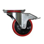 CASTOR 100mm H URETHANE SWIVEL BRAKED