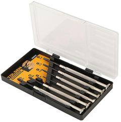 SCREWDRIVER SET PREC 6pc PHL & SLOT TOLS