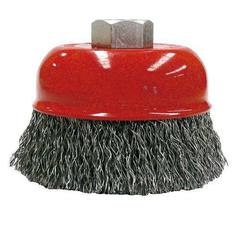BRUSH CUP CRIMPED 75 M14 STEEL BORDO