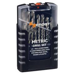 DRILL SET 1-10mm 19pc FROST