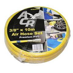 AIR HOSE 10mm x 10M WITH COUPLINGS