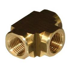 TEE FEMALE 3/8 BRASS