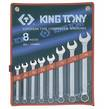 WRENCH R&OE SET 10-22mm 8pc KING TONY