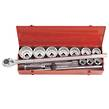 SOCKET SET 1 14pc 36-80mm KING TONY