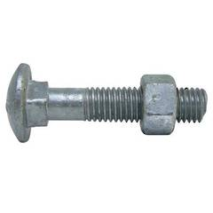 M8 x 50 GALV COACH BOLT & NUT
