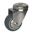 CASTOR 60mm S/S GREY RUBBER BOLT HOLE