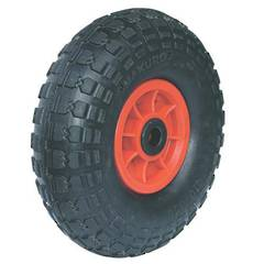 WHEEL PNEUMATIC 300 x 4 TYRE 19mm BUSH